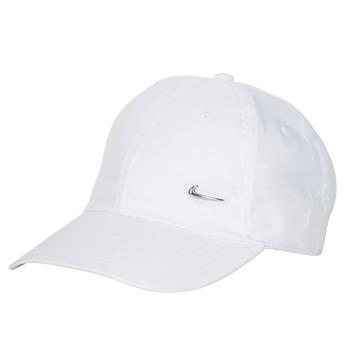 Accessoires Schirmmütze Nike U NSW H86 METAL SWOOSH CAP Weiss / Silbern