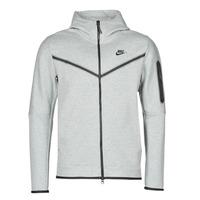 Kleidung Herren Trainingsjacken Nike M NSW TCH FLC HOODIE FZ WR Grau / Schwarz