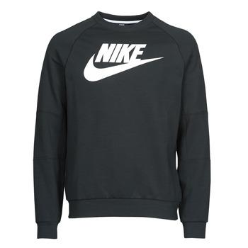 Kleidung Herren Sweatshirts Nike M NSW MODERN CRW FLC HBR Schwarz / Weiss