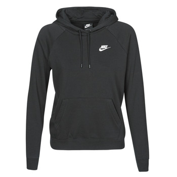 Kleidung Damen Sweatshirts Nike W NSW ESSNTL HOODIE PO FLC Schwarz