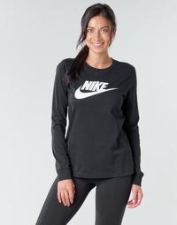 Kleidung Damen Langarmshirts Nike W NSW TEE ESSNTL LS ICON FTR Schwarz