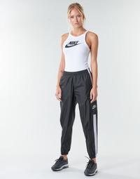 Kleidung Damen Jogginghosen Nike W NSW PANT WVN Schwarz