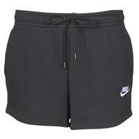 Kleidung Damen Shorts / Bermudas Nike W NSW ESSNTL SHORT FT Schwarz