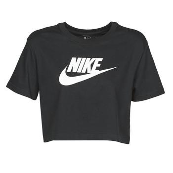 Kleidung Damen T-Shirts Nike W NSW TEE ESSNTL CRP ICN FTR Schwarz