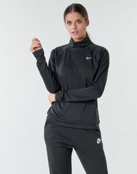 Kleidung Damen Langarmshirts Nike W NK PACER HZ Schwarz