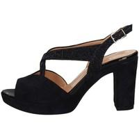Schuhe Damen Sandalen / Sandaletten Soffice Sogno E20323 BLAUE NACHT