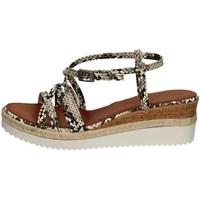 Schuhe Damen Sandalen / Sandaletten Porronet FI2596 WEISS UND SCHWARZ