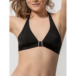 Kleidung Damen Bikini Ober- und Unterteile Luna Bügel-Dreieck-Badeanzug-Top ohne Bügel Homonoia Perlschwarz