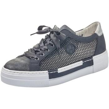 Schuhe Damen Sneaker Low Rieker Schnuerschuhe Perforabuk/Namur/Airnet/Space N4997-14 blau