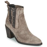 Schuhe Damen Low Boots Regard ELCHE V4 VELOURS TALPA Beige