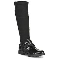 Schuhe Damen Klassische Stiefel Regard CANET V1 VERNIS NOIR Schwarz