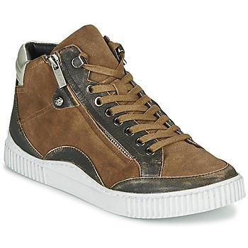 Schuhe Damen Sneaker High Regard ISLANDE V2 BONGO CHAMOIS Braun