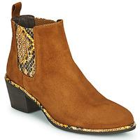 Schuhe Damen Low Boots Regard NOISY V2 VELOURS SAFRAN Braun