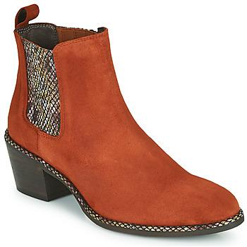 Schuhe Damen Low Boots Regard NOISY V3 VELOURS TUILE Rot