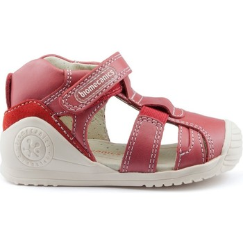 Schuhe Kinder Sandalen / Sandaletten Biomecanics GIAMO SIDE RUBBERS CHICO RED