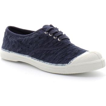 Schuhe Damen Tennisschuhe Bensimon Lacet Broderie Bleu