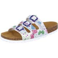 Schuhe Damen Pantoffel Lico Bioline Butterfly silberfarben