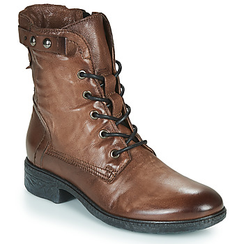 Schuhe Damen Boots Dream in Green NELATINE Braun