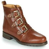 Schuhe Damen Boots Dream in Green NOURAT Camel