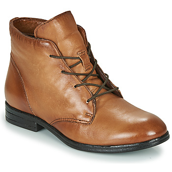 Schuhe Damen Boots Dream in Green NERGLISSE Camel