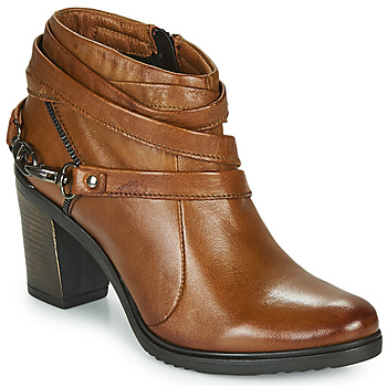 Schuhe Damen Low Boots Dream in Green NEGUS Camel