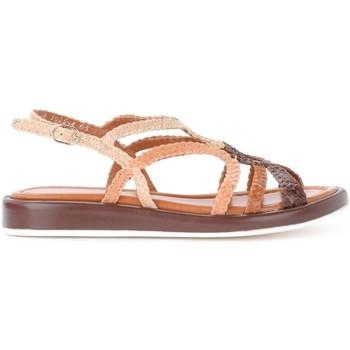 Schuhe Damen Sandalen / Sandaletten Pon´s Quintana Sandalen Anais in geflochtenem Leder Naturbraun Braun