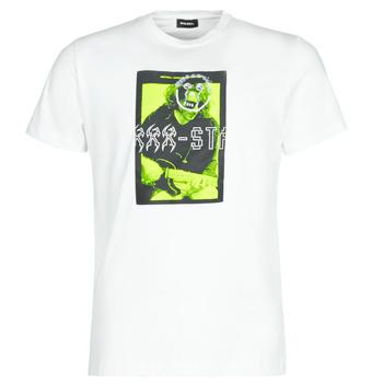 Kleidung Herren T-Shirts Diesel T-DIEGO J1 Weiss