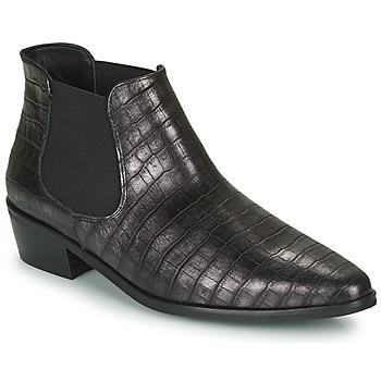 Schuhe Damen Boots Fericelli NANARUM Schwarz / Silbern