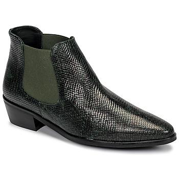 Schuhe Damen Boots Fericelli NANARUM Schwarz / Grün