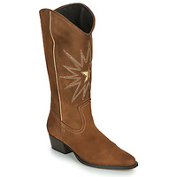 Schuhe Damen Klassische Stiefel Fericelli NISCOME Camel / Gold