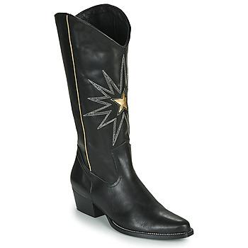 Schuhe Damen Klassische Stiefel Fericelli NISCOME Schwarz / Gold