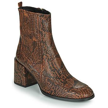 Schuhe Damen Low Boots Fericelli NAKE Schwarz / Braun