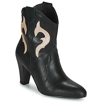 Schuhe Damen Low Boots Fericelli NARLOTTE Schwarz / Gold