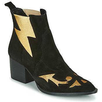 Schuhe Damen Low Boots Fericelli NAUSSON Schwarz / Gold