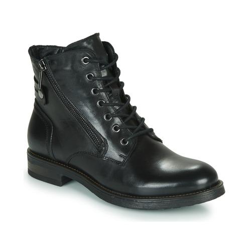 Schuhe Damen Boots Casual Attitude NUNAISE Schwarz