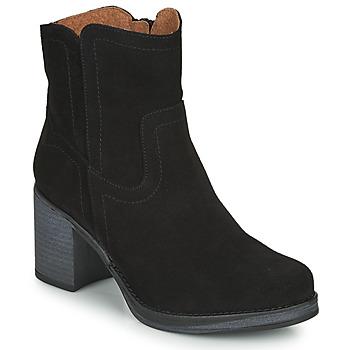 Schuhe Damen Low Boots Casual Attitude  Schwarz