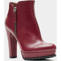 Schuhe Damen Ankle Boots Poilei Zoe Red