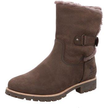 Schuhe Damen Stiefel Panama Jack Stiefeletten Felia Igloo B7 Nobuck Gris braun