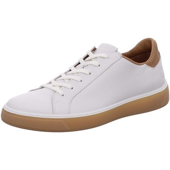 Schuhe Herren Sneaker Low Ecco Schnuerschuhe Mens 504504/51684 weiß
