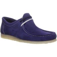 Schuhe Herren Derby-Schuhe Sioux Schnuerschuhe Mokassin 31802 blau