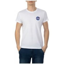Kleidung Herren T-Shirts Nasa NS-BASIC-BALL Weiss