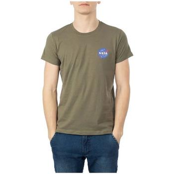 Kleidung Herren T-Shirts Nasa NS-BASIC-BALL Grün