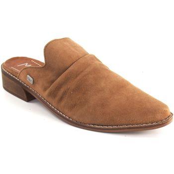 Schuhe Damen Pantoletten / Clogs Musse & Cloud Damenschuh MUSE & CLOUD schmerzhaftes Leder Braun