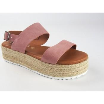 Schuhe Damen Sandalen / Sandaletten Csy Damensandale CO & SO 23021 pink Rose