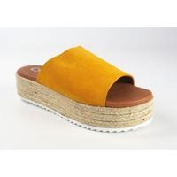Schuhe Damen Pantoffel Csy Lady Sandale CO & SO 23020 Senf Gelb