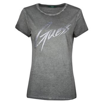 Kleidung Damen T-Shirts Guess SS CN IVONNE TEE Schwarz
