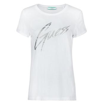 Kleidung Damen T-Shirts Guess SS CN IVONNE TEE Weiss