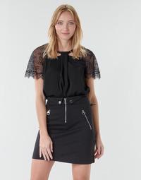 Kleidung Damen Tops / Blusen Guess GERDA Schwarz
