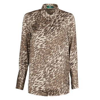 Kleidung Damen Tops / Blusen Guess VIVIAN Leopard