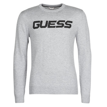 Kleidung Herren Pullover Guess LOGO SWEATER Grau